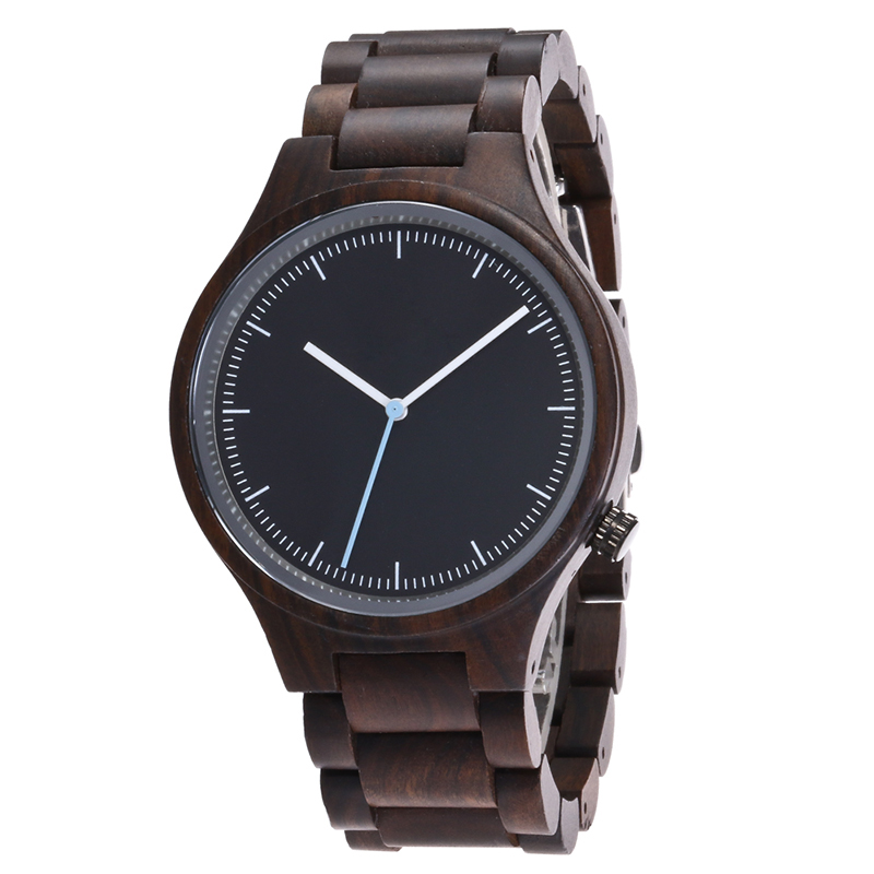 Wood watch men quartz wooden watch male casual bracelet ...