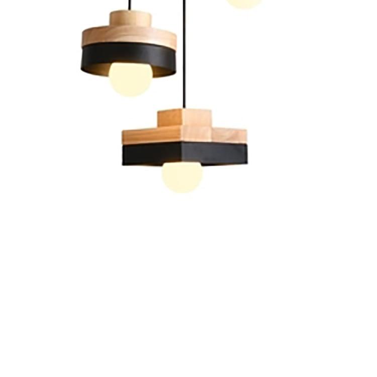 Nordic Round Led Pendant Light Fixture Modern Square ...