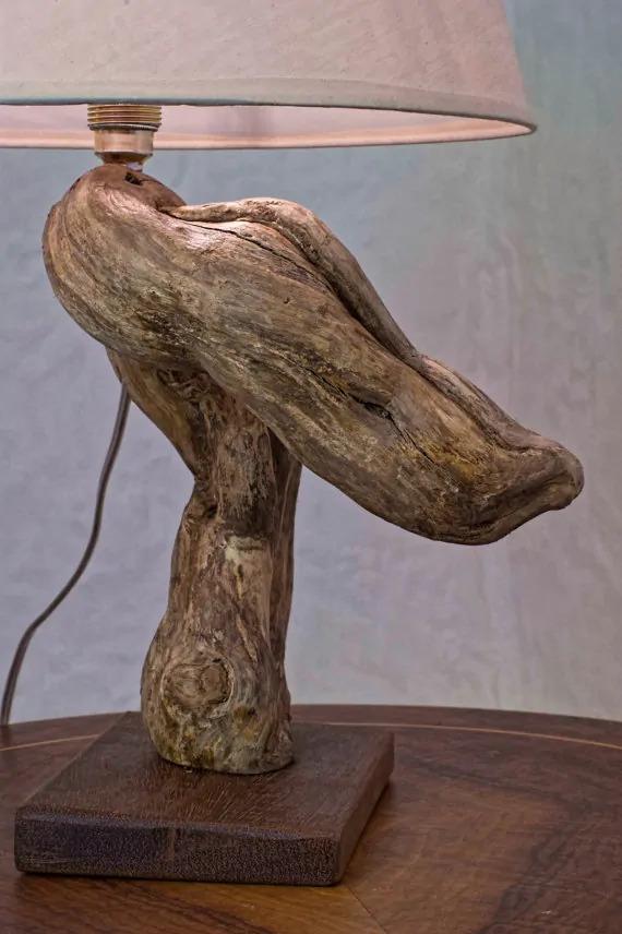 rebuild broken lamps with Sculptural wooden textures
